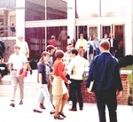 Bridgewater College, Students exiting Cole Hall, undated by Bridgewater College