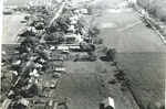 Bridgewater College, Aerial view of campus with some flooding, 1949 by Bridgewater College