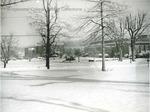 Bridgewater College, Campus during snow, 1970s by Bridgewater College