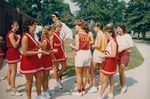 Bridgewater College, Cheerleaders and the Zoo Crew spirit club, 21 Sept 1985 by Bridgewater College