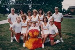 Bridgewater College, Group portrait of the cheerleaders, Sept 1986 by Bridgewater College
