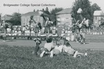 Bridgewater College, Bob Anderson (photographer), cheerleaders cheering at a BC football game, circa 1973 by Bob Anderson