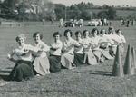 Bridgewater College, Group Portrait of the cheerleaders at Homecoming, 1952 by Bridgewater College