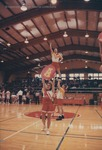 Bridgewater College, cheerleaders performing at a basketball game, 20 Feb 1993 by Bridgewater College