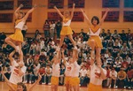 Bridgewater College, cheerleaders performing, circa 1988 by Bridgewater College