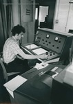Bridgewater College, Erich Kyger working in the Physical Chemistry Laboratory, circa 1980 by Bridgewater College