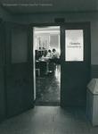 Bridgewater College, Photograph through the door of the chemistry lab, undated by Bridgewater College
