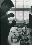 Bridgewater College, A student in the chemistry lab, undated by Bridgewater College