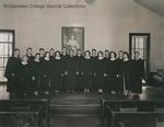 Bridgewater College, Chapel Choir group portrait, 7 Dec 1948 by Bridgewater College