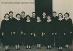 Bridgewater College, Chapel Choir group portrait, 13 Feb 1952 by Bridgewater College