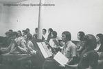Bridgewater College, A. Philpot (photographer), College Chorale practice, circa 1971 by A. Philpot