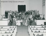 Bridgewater College, Oratorio Choir group portrait, 7 Dec 1975 by Bridgewater College