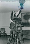 Bridgewater College, A student decorating in her residence hall for Christmas, undated by Bridgewater College