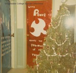 Bridgewater College, Christmas decorations in a residence hall, 1970 by Bridgewater College