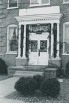 Bridgewater College, The entrance to Yount Hall decorated for Christmas, undated by Bridgewater College