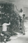Bridgewater College, Chris Lydle (photographer), Three freshmen women decorating a Christmas tree, 1966 by Chris Lydle