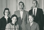 Bridgewater College, Group portrait of the Class of 1960 junior class officers, 1959 by Bridgewater College