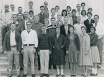 Bridgewater College, Group portrait of the Class of 1965 as freshmen, 1962 by Bridgewater College
