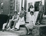Bridgewater College, Students on the steps of Memorial Hall, late 1970s by Bridgewater College