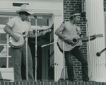 Bridgewater College, Photograph of Kevin Bailey and Tyler Hudgins playing at an ice cream social, Sept 1985 by Bridgewater College