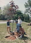 Bridgewater College, Seniors planting a tree, their College Gift, May 1986 by Bridgewater College