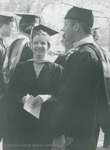 Bridgewater College, Photograph of Stephanie Coffman and unidentified students at graduation, 9 May 1993 by Bridgewater College