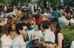 Bridgewater College, Photograph of students assembling for the graduation rehearsal, 8 May 1993 by Bridgewater College