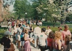 Bridgewater College, Photograph of students in line for graduation rehearsal, 8 May 1993 by Bridgewater College