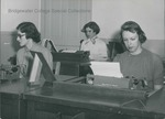 Bridgewater College, Female typing students, undated by Bridgewater College