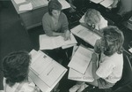 Bridgewater College, Students working in a group in a BC classroom, undated by Bridgewater College