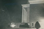 Bridgewater College, Side view of Cole Hall columns, 12 January 1953 by Bridgewater College