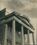 Bridgewater College, Upper columns and entablature of Cole Hall, circa 1934 by Bridgewater College