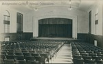 Bridgewater College, Cole Hall interior with piano on stage, undated by Bridgewater College