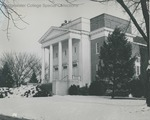 Bridgewater College, Bill Smith (photographer), Cole Hall exterior with snow on ground, undated - before 1968 by Bill Smith