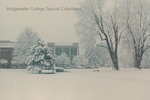 Bridgewater College, Cole Hall and Kline Campus Center in snow, undated by Bridgewater College