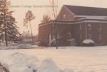 Bridgewater College, Melissa Pollock (photographer), Back of Cole Hall in snow, January 1990 by Melissa Pollock