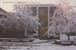 Bridgewater College, Leon Rhodes (photographer), Cole Hall entrance in snow, April 1990 by Leon Rhodes