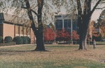 Bridgewater College, Cole Hall and Kline Campus Center in autumn, 1985 by Bridgewater College