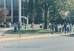 Bridgewater College, Crowd outside Cole Hall on Parent's Day, 17 October 1987 by Bridgewater College