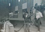 Bridgewater College, Students leave Cole Hall auditorium, 1980 by Bridgewater College