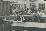 Bridgewater College, Students studying in BC library in Cole Hall basement, circa January 1953 by Bridgewater College