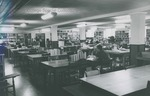 Bridgewater College, Students studying in BC library in Cole Hall basement, undated by Bridgewater College