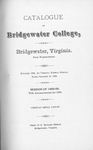 Bridgewater College Catalogue, Session 1888-89