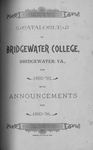 Bridgewater College Catalogue, Session 1892-93 by Bridgewater College