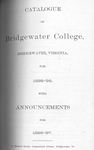 Bridgewater College Catalogue, Session 1895-96 by Bridgewater College