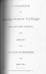 Bridgewater College Catalogue, Session 1896-97 by Bridgewater College