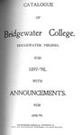 Bridgewater College Catalogue, Session 1897-98 by Bridgewater College