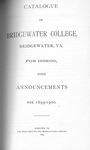Bridgewater College Catalogue, Session 1898-99 by Bridgewater College