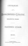 Bridgewater College Catalogue, Session 1900-01 by Bridgewater College