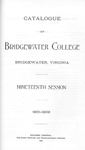 Bridgewater College Catalogue, Session 1901-02 by Bridgewater College